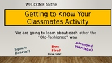 Back to School Group Activity: Getting to Know Your  Classmates