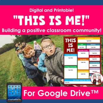 Back to School Getting to Know Your Students Activity Google Slides