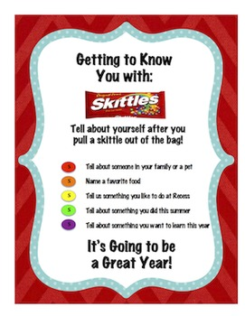 Back to School: Getting to know you with Skittles