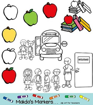 Back to School - Getting to the Core (clip art for teachers)