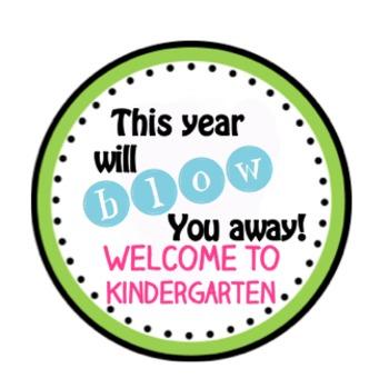 Back to School Gift Bubbles Label Printable Kindergarten