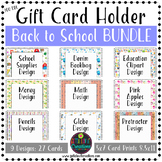 Back to School Gift Card Holder Printable Bundle 30% Off