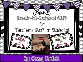 Back-to-School Gift {Editable Tags: Donut Theme}