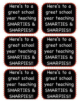Back to School Gift Label for Teacher and Staff Gift
