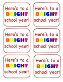 Back to School Gift Label for Teacher and Staff Gift Welcome Back First 1st Day