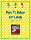 Back to School Gift Labels