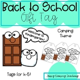 Back to School Gift Tag (Camping Theme)