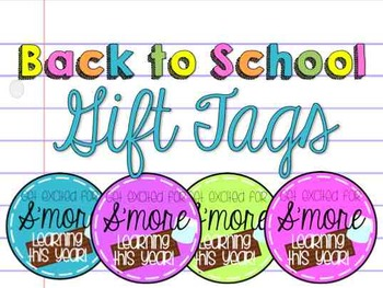 Back to School Gift Tag - Learn S'more!