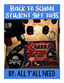 Back to School Gift Tag: Pirate Themed