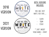 "Back to School Gift Tag - ""You are Just WRITE for Our Class"""