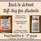 Back to School Gift Tag for Students