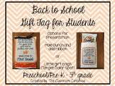 Back to School Gift Tag for Students (Editable)