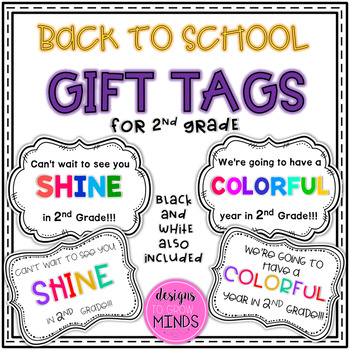 Back to School Gift Tags- 2nd Grade