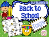 Back to School Gift Tags EDITABLE