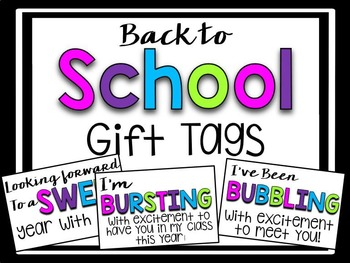 Back to School Gift Tags - FREEBIE