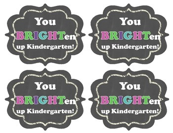 Back to School Gift Tags (GLOW STICK)
