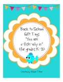 Back to School Gift Tags: O-fish-ally