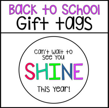 Back to School - Gift Tags: Sweet Year