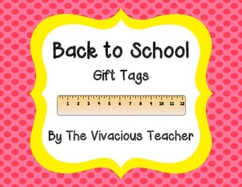 "Back to School Gift Tags (""YOU RULE!"")"