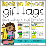 Back to School Gift Tags for Students and Families