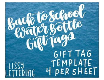 """Back to School Gift - Water Bottle """"Thirsty for Knowledge"""" Gift Tags"""