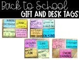 Back to School Gift and Desk Tags