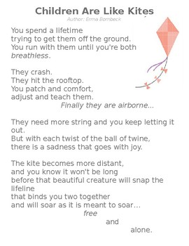 Back to School Gift for Parents - Children Are Like Kites