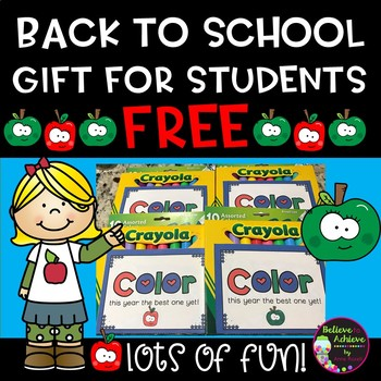 Back to School Gift for Students- FREE