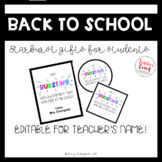 Back to School Gifts for Students (Starburst Labels)