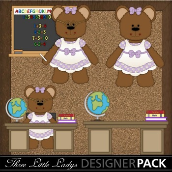 Back to School Girl Bears