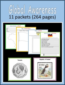 Back to School Global Awareness BUNDLE (11 packets)