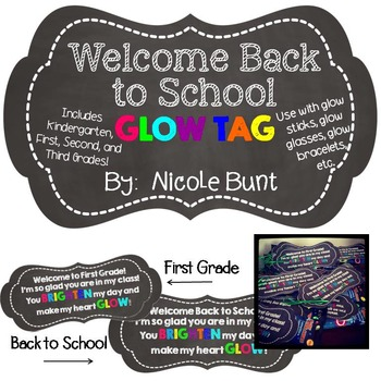 Back to School Glow Tag