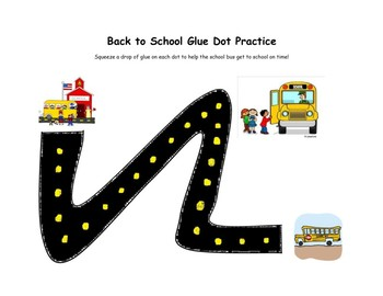 Back to School Glue Dot Practice