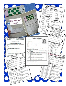Back to School Glyph Craft, Writing Activity, and Data Sheet Open House Display