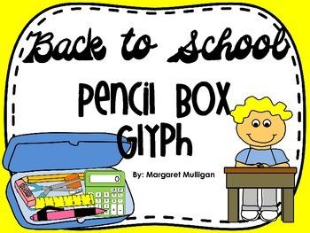 Back to School Glyph - Pencil Bag Glyph