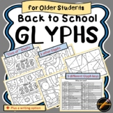 Back to School Glyph for Older Students: Mix and Match