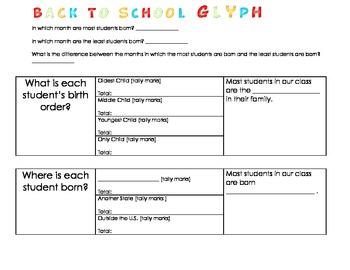 Back to School Glyph/Reading Glyph Combo