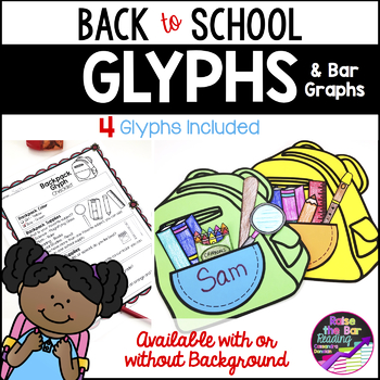 Back to School Glyphs - 4 Fun Back to School Craftivities