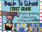 Back to School Glyphs~Graphs~and More! {First Grade}