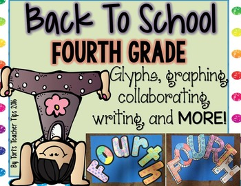 Back to School Glyphs~Graphs~and More! {Fourth Grade}