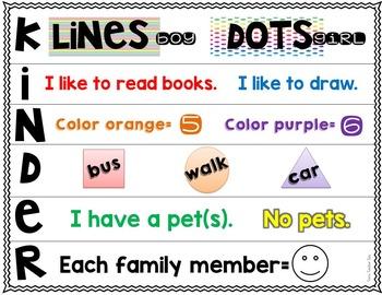 Back to School Glyphs~Graphs~and More! {Kindergarten}