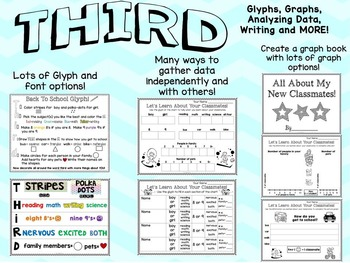Back to School Glyphs~Graphs~and More! {Third Grade}