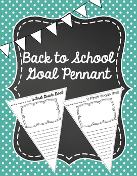 Back to School Goal Pennants