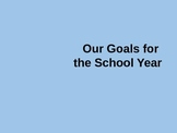 Back to School Goal-Setting Activity PowerPoint