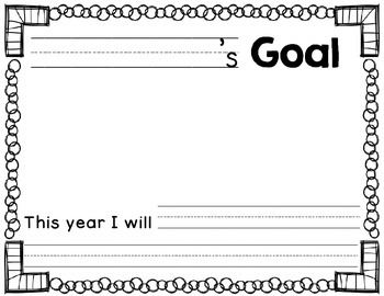 Back to School Goal Setting Forms