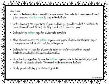 Goal Setting Foldable *Foster a Growth Mindset*