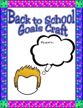 Goal Setting Craft and Writing Acitivity