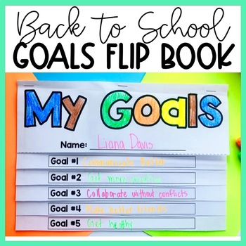 FREEBIE Back to School Craftivity for Secondary Students Goals Flip Book