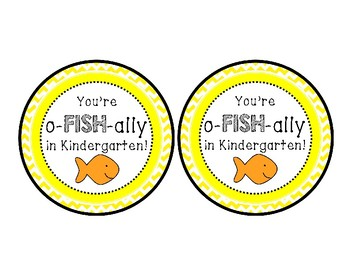 Back to School Goldfish Crackers Tags
