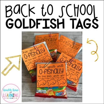 Back to School Goldfish Gift Tags